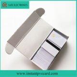 Carte à puce imprimable imperméable à l'eau du blanc IC avec la piste magnétique