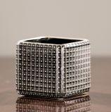Maceta de cerámica superficial vidriosa cuadrada