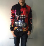 Schnell-Trockner Microfiber Fischen-Polo-Hemd mit kundenspezifischem Sublimation-Druck