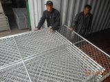Baustelle-Kettenlink-Ineinander greifen-temporärer Zaun