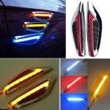 조타 가벼운 구조망 측 램프 잎 모양 자동 차 LED 측면광 마커 우회 신호 빛