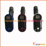 Car Bluetooth transmisor manos libres transmisor de FM MP3 con Bluetooth