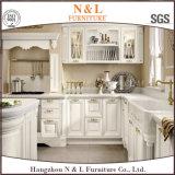 N&L autoguident le Module de cuisine blanc en bois solide de dispositif trembleur de meubles