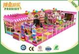 Cour de jeu d'intérieur de stationnement de gosses de thèmes de sucrerie pour le centre de jeu ou le centre commercial