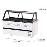 Congelador Refrigerated e congelado do projeto a favor do meio ambiente da carne do indicador