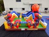 Neuer Entwurfs-aufblasbarer Basketball-Prahler für Verkauf, aufblasbares Basketball-Sport-Spiel, aufblasbarer Basketball Funcity