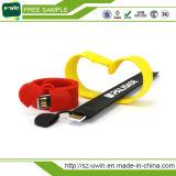 Горячее флэш-память USB запястья руки силикона USB Pendrive с подгонянными логосом и ценой по прейскуранту завода-изготовителя
