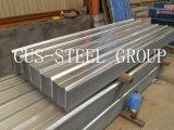Tuile de toit en métal du marché de l'Afrique/feuille en acier ondulée galvanisée de toiture