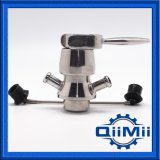 Válvula asséptica da amostragem da braçadeira do aço inoxidável do Dn 6 para Appliction de creme