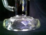 Pipe de nid d'abeilles colorée par narguilé en verre en verre en verre de conduite d'eau de pipe de pipe de fumage A58 avec la cuvette
