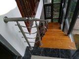 Ventes directes en usine Les escaliers en bois massif en acier inoxydable