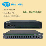 FTTH Triple-Play FTTH Olt para P2p Solución Dual / Single Fiber