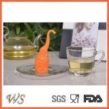 [وس-يف054س] فيل سليكوون شاي [إينفوسر] محدّد شاي مرشّح [فوود غرد] شاي مصفاة