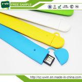 カスタマイズされたロゴおよび工場価格の熱いUSB Pendriveのシリコーンの手首USBのフラッシュ・メモリ