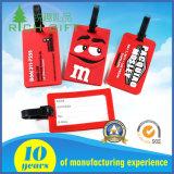 Venta al por mayor de PVC suave personalizado bolsa de viaje etiqueta / etiqueta de nombre de viaje / etiqueta de ID de metal