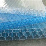 Folha Anti-Fog e Uv-Revestida do favo de mel do policarbonato para a construção