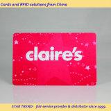 4개의 색깔 자기 띠 Franchised 상점을%s 플라스틱 선물 카드