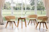 Natürliches Rattan-Hotel-Möbel-Gaststätte-Stuhl-Stab-Kaffee-Stuhl-Set