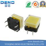 Iluminado interruptor 6 * 6 mm Tact con Cap Square LED amarillo