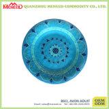 La forme ronde conçoivent la pleine plaque de dîner de mélamine d'impression