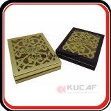 Rectángulo de papel de lujo de calidad superior del corte del laser del regalo