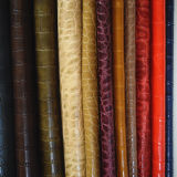 Cuir synthétique de vente chaud des graines de crocodile pour les chaussures ou les sacs (HS-M002)