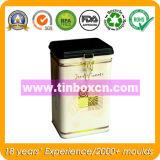 Luftdichter Kaffee-Zinn-Kasten mit Nahrungsmittelgrad, rechteckiges Nahrungsmittelzinn