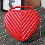 El diseñador en forma de corazón de la marca de fábrica de los bolsos de las muchachas hermosas empaqueta el cuero genuino Emg4782