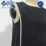 Sommer-Kleid der Newstyle schwarze runde Muffen-Sleeveless langen Frauen