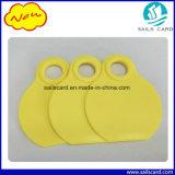 Tag animais visuais amarelos da garganta