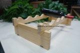 Шкаф вина стога для античного стеллажа для выставки товаров вина твердой древесины