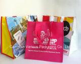 La coutume a estampé le sac tissé par pp stratifié, sac à provisions, sac d'emballage