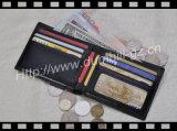 Европейский малый бумажник человека кожи размера