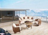 La venta del nuevo diseño al aire libre de mimbre del sofá de