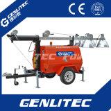Kubota Motor-Generator-beweglicher Aufbau-heller Aufsatz