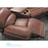 Sofá de couro moderno do Recliner para o teatro Home (DW-6014S)