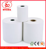 impresión de 57m m que cubre un carrete lateral del papel termal