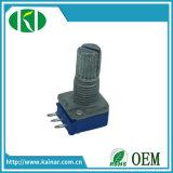 potenziometro rotativo B503 di Pin dell'asta cilindrica 3 del metallo di 9mm senza interruttore