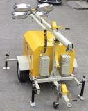 Torretta chiara diesel mobile con il rimorchio
