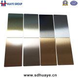 fini 8K de miroir de feuille de couleur de l'acier inoxydable 201 304 316