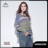 スペース染料の女性の特大帆立貝の公平な島のセーター