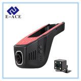 小型カメラの自動ダッシュカム二重レンズ完全なHD 1080P WiFiの車DVR