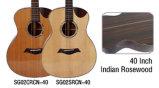Гитара Cutway горячего сбывания Handmade твердая верхняя акустическая