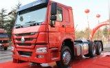 6X4 de Vrachtwagen die van de Tractor HOWO met Ton 80-100 Capaciteit trekken