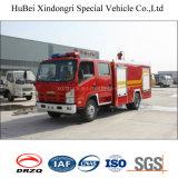 euro 4 del coche de bomberos del tanque de agua de 3ton Isuzu