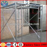 建物の鋼鉄材料のためのQ235によって電流を通されるHフレームの足場
