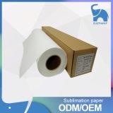 Rolo foleiro seco rápido do papel de impressão da transferência térmica do Sublimation da tintura 100GSM do grande formato para a matéria têxtil