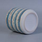 Ceramische Levering voor doorverkoop van de Pot van de Bloem van de Verf van de hand de Blauwe en Witte