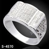 Anel do micro da prata da jóia da forma da alta qualidade
