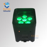 Fournisseur professionnel de lumière de PARITÉ de batterie de la lumière UV 6/10CH de PARITÉ de la batterie DEL de WiFi de 6*18W 6in1 Rgbaw $$etAPP pour l'usager de disco d'étape